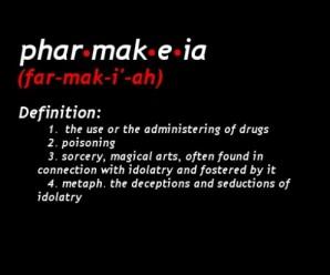 pharmakeia, witchcraft, sorcery, poisoner, pharmacist, greek