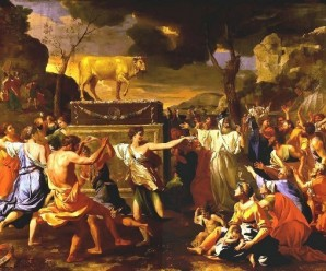 Adoration_of_Golden_Calf_Poussin_1634